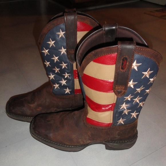 81c67a6baff Durango Western Boots Rebel American Flag Mens 8D